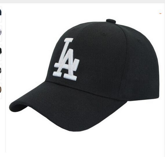 Brand black Long brim la Baseball Bone visor cap Fashion LA Hats for Men  Women gorras Snapback hat casquette Baseball caps d6c9d4d6c