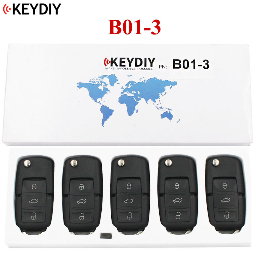 5PCS 3 Buttons Universal Remote Control Key B Series for KD X2 KD900 KD900 URG200 KEYDIY