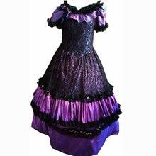 D-207 Victorian Gothic/Civil War Southern Belle loose Ball Gown Dress Halloween Vitage dresses Sz US 6-26 XS-6XL