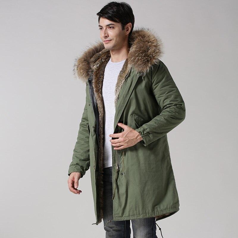 2015 invierno nuevo estilo Mr piel sintética color natural fur estilo largo chaqueta masculina