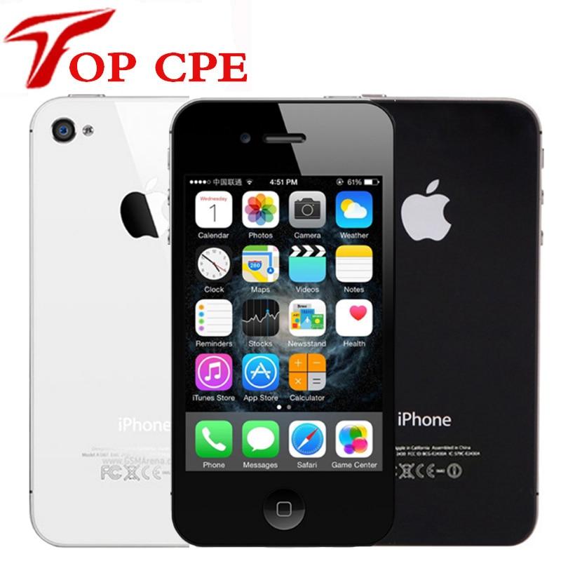 Original 4S 4S Desbloqueado de Fábrica Apple Iphone 8 GB/16 gb/32 gb/64 gb ROM 3