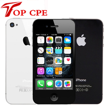 "Оригинал 4S Apple Iphone 4S Factory Unlocked 8 ГБ/16 ГБ/32 ГБ/64 ГБ ROM 3.5 ""8MP Dual Core 3 Г GSM WCDMA WI-FI IOS Используется мобильный телефон"