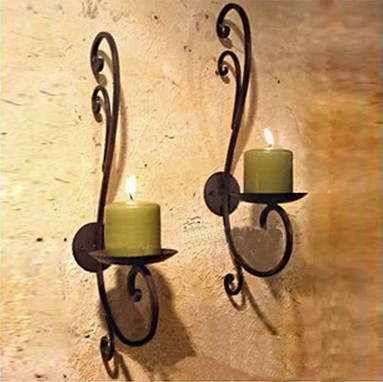 Popular Wrought Iron Wall Candle Holders-Buy Cheap Wrought Iron ...