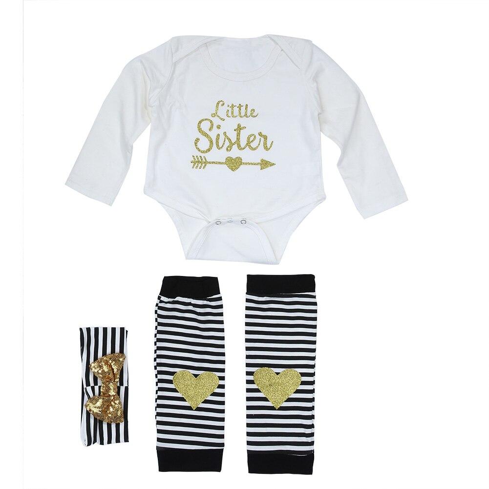 Casual 3pcs Kids Baby Girl Clothes Infant Romper Jumpsuit Bodysuit Clothes Outfit Set Summer Cotton Babys Set