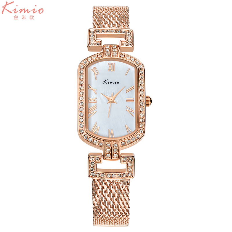 KIMIO brand women watches luxury dress quartz watch fashion ladies gold mesh bracelet wristwatches gift clock Relogio Feminino купить