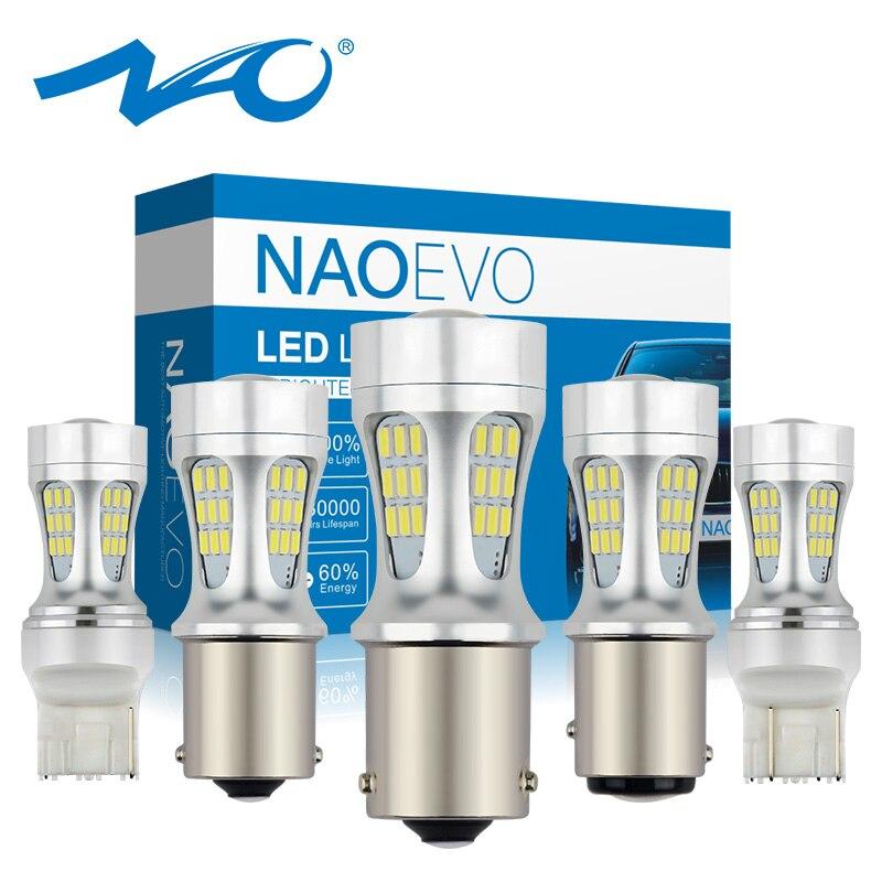 NAO Led-Bulbs Car-Light W21w P21w T20 Bay15d 1157 Bau15s Auto Led Tail-Lamp T25 12V DRL