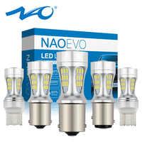 NAO P21W led bulb p21/5w car light t20 7443 py21w led 1156 ba15s auto 12V bay15d 1157 bau15s w21w w21/5w For BMW 7440 T25 5W DRL