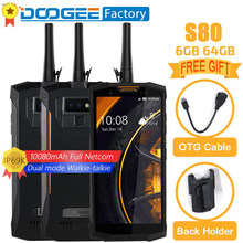 DOOGEE S80 IP68/IP69K 10080mAh 4G Smartphone 6GB + 64GB 16MP aparat 5.99