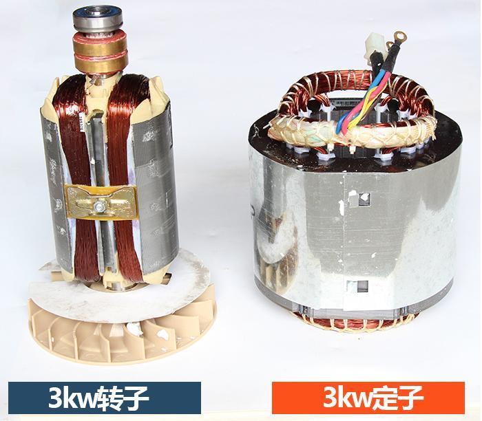 цена на Fast shipping 3kW 220V 50Hz Flat shaft 19 rotor stator gasoline generator diesel generator suit for any Chinese brand
