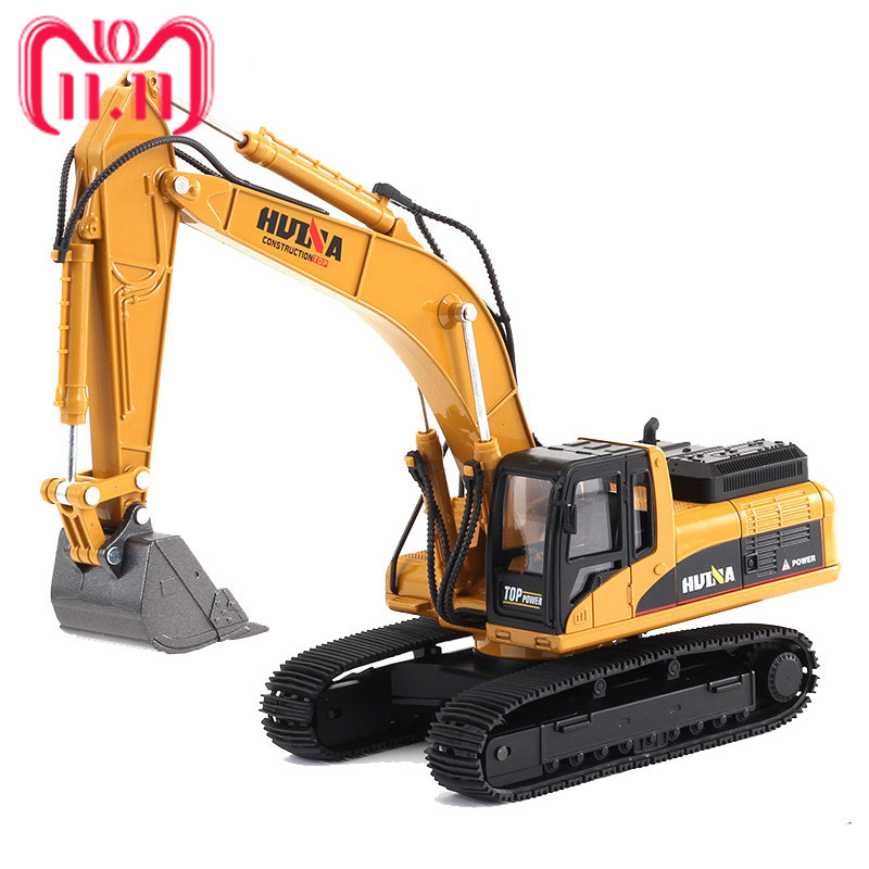 1:40 Crawler Excavator Truck Toys Construction Vehicle Alloy Car Model Toys For Children Cars joyyifor construction vehicle bulldozer excavator forklift crane building blocks legoinglys minifigure cars toys for children