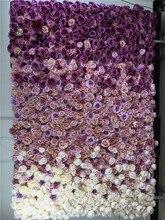 SPR Бесплатная доставка-2,4*2 м 3D искусственный Свадебная Роза цветок настенный фон цветочный орнамент дорожный свинец Цветы оформление
