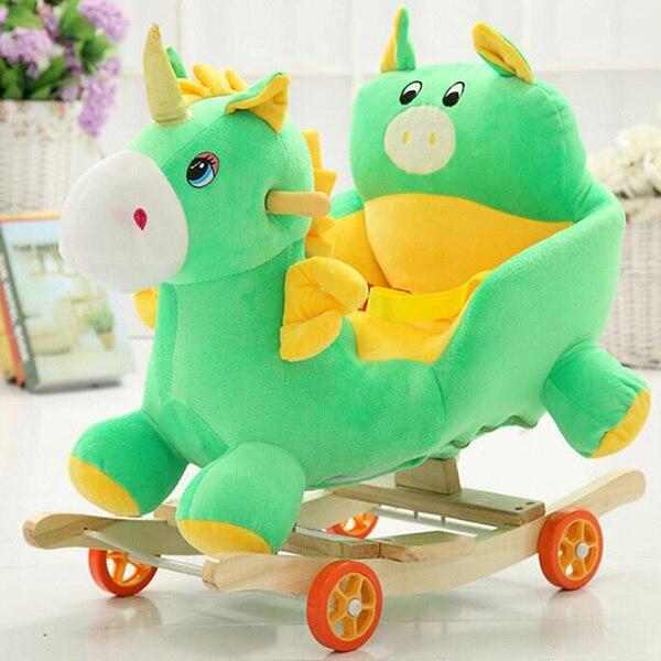 Дети Лошадь-Качалка Ребенка Pony Elephant Ride-На Игрушки Детские Качели Музыкальный Стул Деревянный Стул Детей Качелях ребенка Вышибала