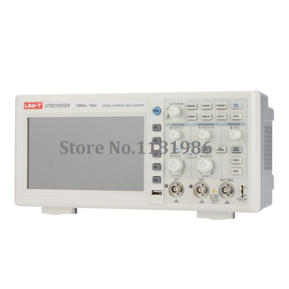 Uni-T UTD2102CEX 1G 2 Channels Digital Storage Oscilloscope 100MHz upgrated from UTD2102CEL