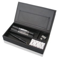 Office Pencil Pen Organizer Box Desk Storage Artificial Leather Holder Stationery Organizer
