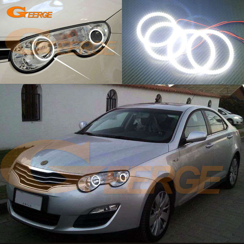 For Roewe 550 MG 550 2008 2009 2010 2011 2012 Excellent Angel Eyes Ultra bright illumination smd led Angel Eyes Halo Ring kit for lifan 620 solano 2008 2009 2010 2012 2013 2014 excellent ultra bright illumination smd led angel eyes halo ring kit