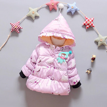 New 2016 children s outerwear girls font b hoodies b font jackets thick cotton padded clothes