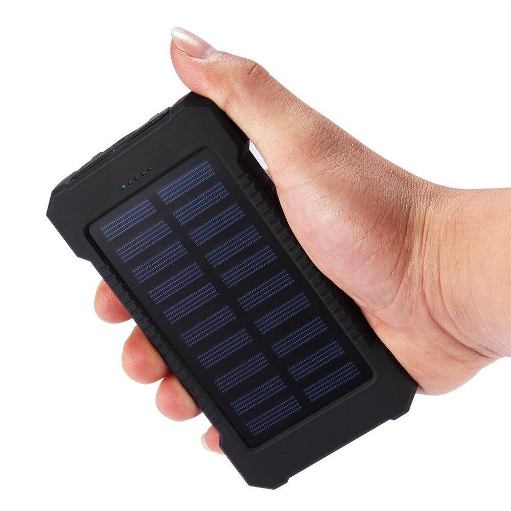Resistente al agua 10000Mah Banco de energía solar Cargador solar - Accesorios y repuestos para celulares - foto 4