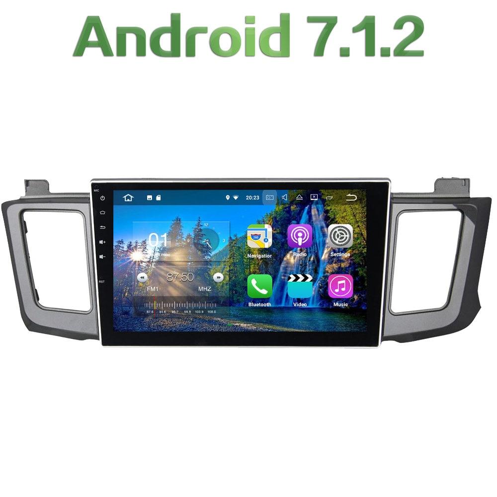 Android 7.1.2 Quad Core 2GB RAM 16GB ROM 2 Din HD Bluetooth Car Stereo Radio GPS Navigation for Toyota RAV4 2012 2013 2014 2015 rom 16g 2 din android car dvd for mazda cx 5 2012 2013 2014 navigation radio audio gps ipod bluetooth russian menu