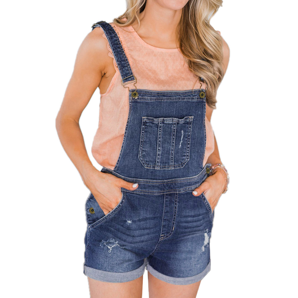 Dark-Blue-Denim-Stretch-Cotton-Short-Overalls-LC786091-5-1