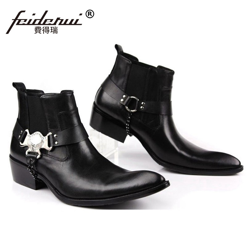 5ae0f396730 🛒 Luxury Runway Man Handmade Brand Punk Shoes Male Designer Genuine ...