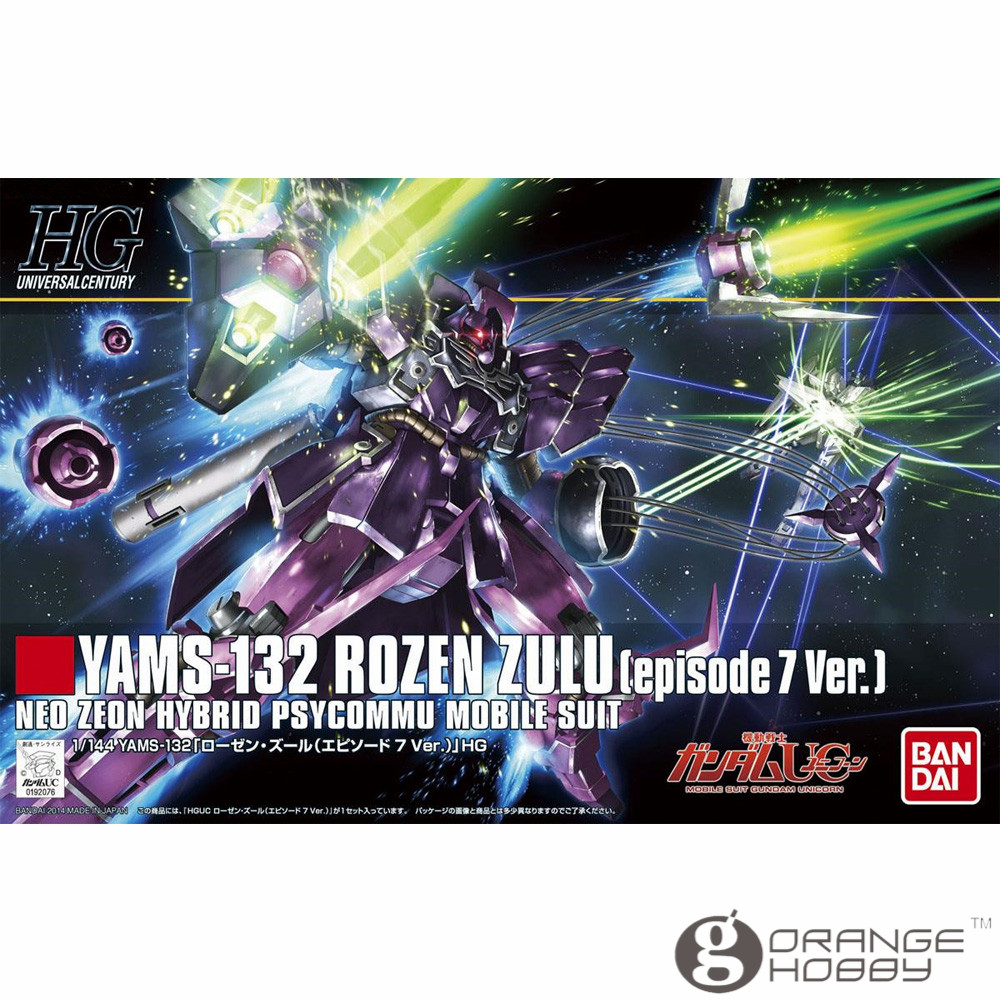 OHS Bandai HGUC 185 1/144 YAMS-132 Rozen Zulu Episode 7 Ver Mobile Suit Assembly Model Kits ohs bandai hguc 116 1 144 msn 06s sinanju mobile suit assembly model kits