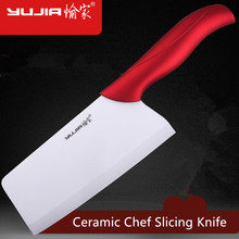 Free Shipping YUJIA Ceramic Kitchen Multifunctional Slicing Knife Professional Chef Cutting Knifves Household Cleaver Cooking