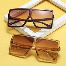 2019 Oversized Square Sunglasses Women Big Frame Gradient Shades Vintage eyeglasses Gafas Shade Mirror UV400