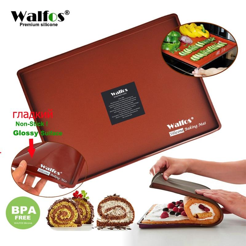 WALFOS FOOD GRADE Silicone Baking Mat DIY Multifunction Cake Pad Non-Stick Oven liner Swiss Roll Pad Bakeware Baking Tools