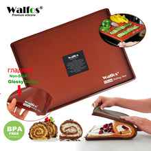 WALFOS 36*28cm Non-Stick Silicone Baking Mat DIY Multifunction Cake Pad Can Put into Oven Swiss Roll Bakeware Tools