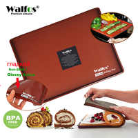 Walfos grau alimentício silicone assadeira diy multifuncional almofada de bolo não-aderente forno forro suíço rolo almofada bakeware ferramentas de cozimento