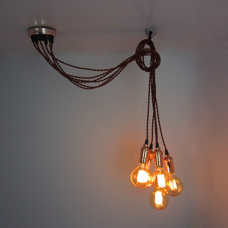 VALLKIN Vintage Retro Pendant Lights American Industrial