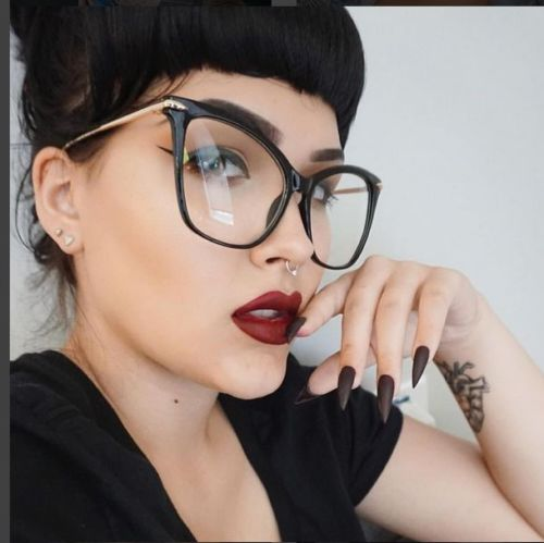 Lady Cat Eye Glasses Frames For Women Sexy Oversized Metal