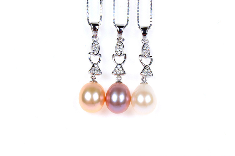 COP23 women fine jewelry for my friend,925 terling silver pendant with a pearl,beautiful necklace as gift to lady bosch my friend mix 20