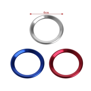 Car Steering Wheel Decoration Circle Cover Sticker For BMW X1 E60 E36 E39 E46 E30 image