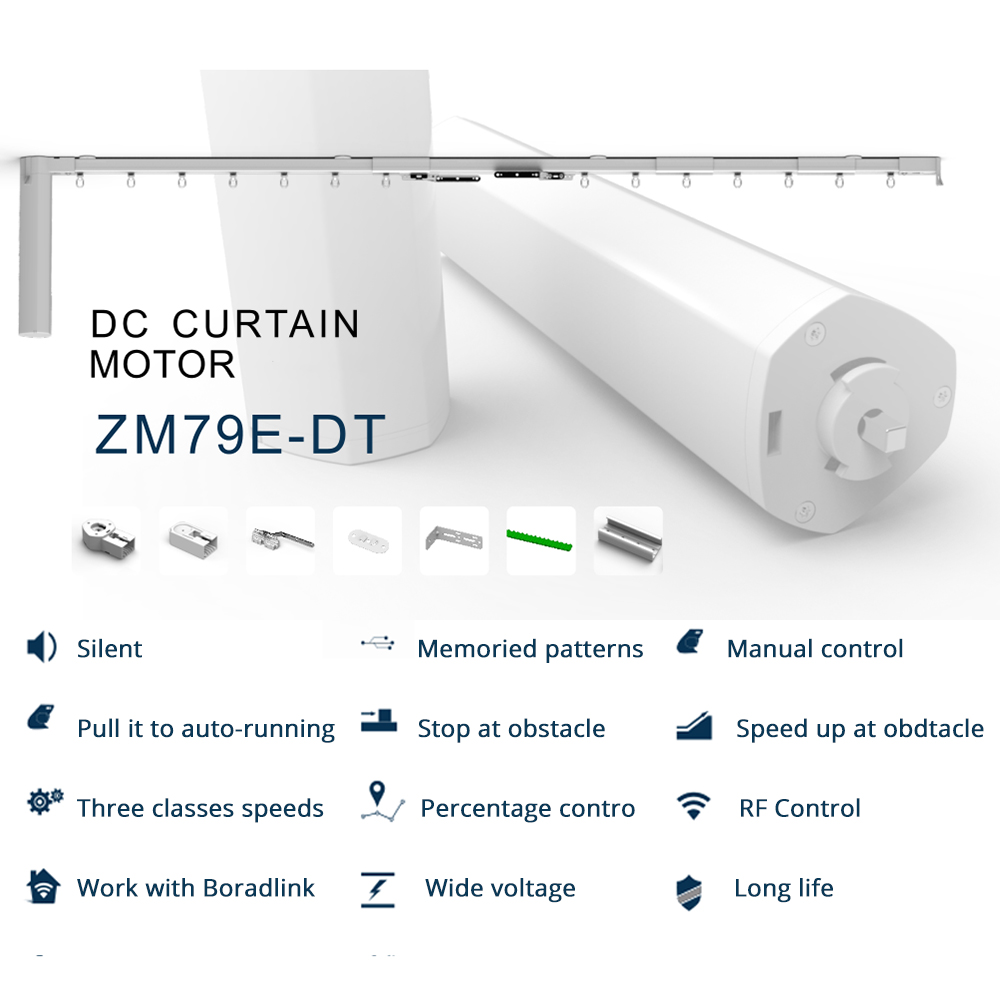 Automatic Slide Curtain Motor Customized Electric Blind With Tracket RF Remote Control Compatible with Broadlink(1)