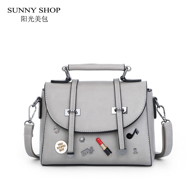 SUNNY SHOP Faux Leather Women Messenger Bags Rivet Letter Bags Flap Over Crossbody Bags Cute Mini Satchels Small Handbags Girls sunny shop candy color cute shoulder bags with bear charm women small messenger bags zipper christmas gifts for teenage girls