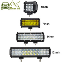 купить 4 7 9 12 15 17 Inch 5D Offroad Led Light Bar For 4x4 4WD Trucks UAZ ATV Boat Spot Flood Beams 12V 24V Suv Focos Work Light дешево