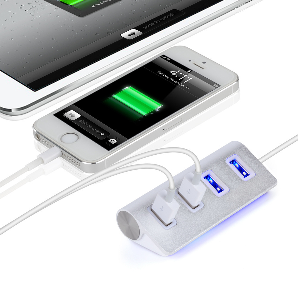 1PC High Speed Mini 4 Port HUB USB hub 4 Port Expander Multiple Converter Adapter for Laptop PC Tabs USB HUB