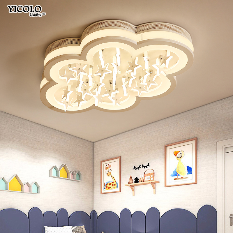 Acrylic LED ceiling light with remote control for baby bed room dinning room home decoration Luminaire Living Room Lights
