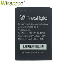 Wisecoco PSP5506 DUO Battery For Prestigio Grace Q5 PSP5506 DUO Phone Battery Replacement +Tracking Code все цены