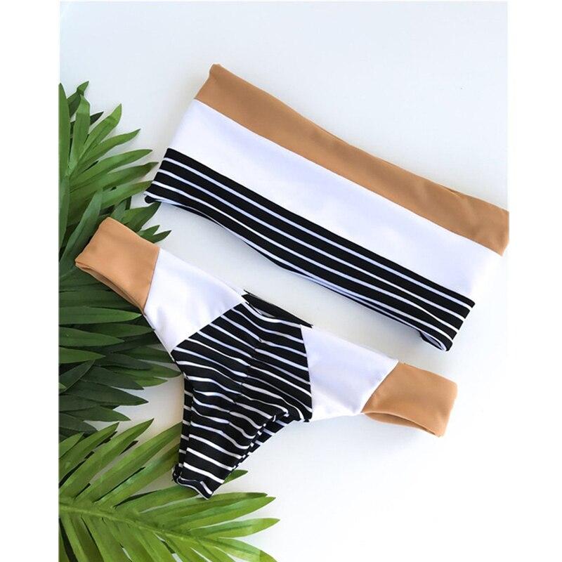 Kmnovo 2018 nuevo Bikinis mujeres Sexy traje de baño del hombro Dropshipping Bikini Set Beach Wear