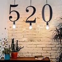 Digital Lamp Vintage Pendant Lights Loft Lamp Nordic Hanglamp Restaurant Kitchen Light Suspension Home Industrial Lighting