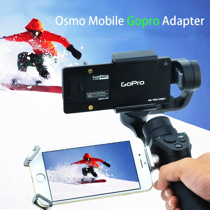 DJI Osmo Mobile Gimbal Gopro4 3+ Adapter Switch Mount Plate Zhiyun Z1-Smooth 3 Axle Handheld Phone Drone Accessories