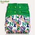 [Mumsbest] nueva Lavable Bebé pañal de Tela AIO Con Inserto De Microfibra Para Baby Boy & Girl Ajustable Reutilizable Pañales de Tela Del Pañal