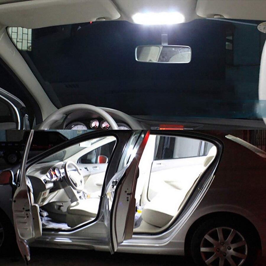 Купить с кэшбэком Super Bright White COB 16 24 36 48SMD LED dome Vanity Mirror Lamp Light Panel Car Interior Reading Map Parking Bulb Lamp DC12V