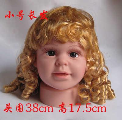 Cammitever 2018 новый для маленьких мальчиков голову с длинными волосами отображения Кепки манекен головы пустышки детям для мальчиков с головы