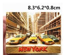 New York City car travel souvenir refrigerator stickers