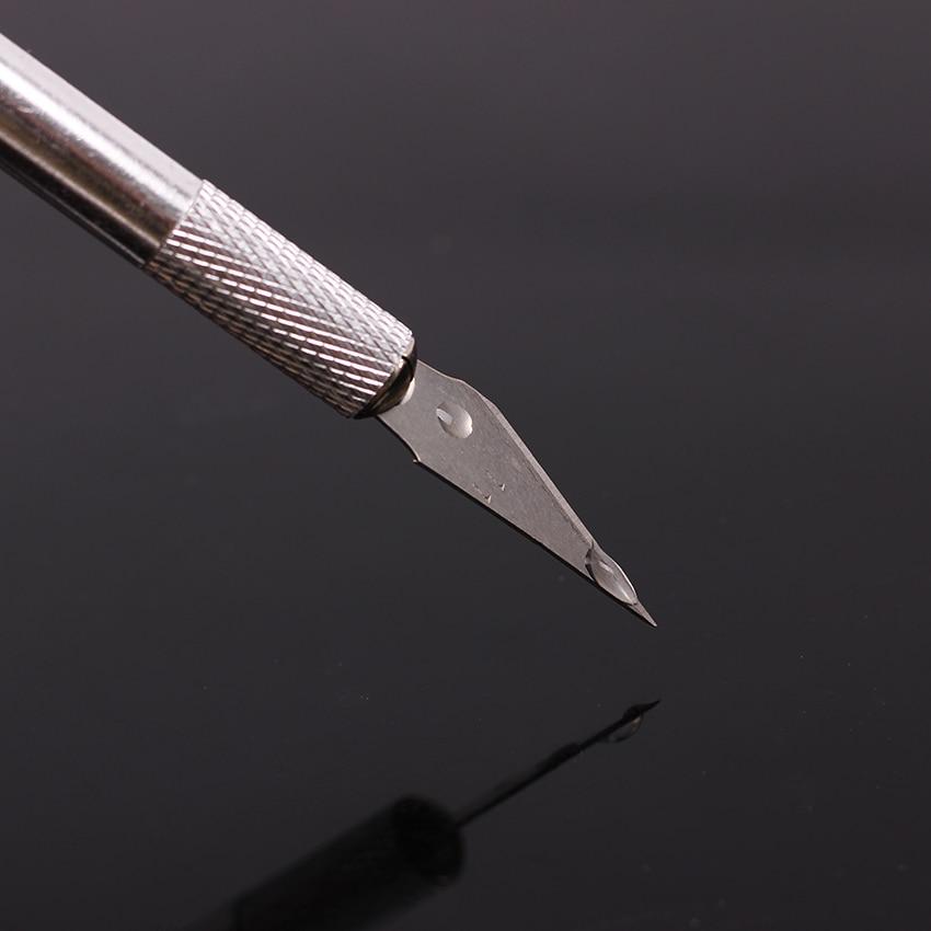 Metal Handle Scalpel Blade Knife Wood Paper Cutter Craft Pen Engraving Cutting Supplies DIY Stationery Utility Knife 1 Set