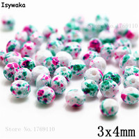 Isywaka 3X4mm 30,000pcs Rondelle Austria faceted Crystal Glass Beads Loose Spacer Round Beads for Jewelry Making NO.18