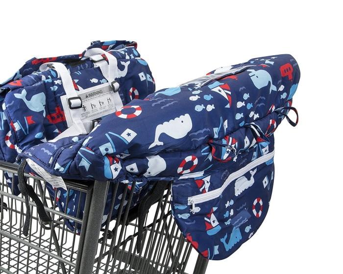10 видов стилей серый чехол для детской тележки с рыбками, чехол для коляски, подушка для сиденья, детский чехол для стульев, защитная складная подушка в полоску - Цвет: Big size
